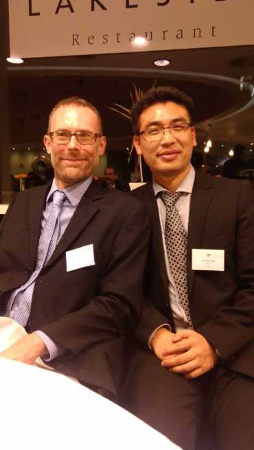 Richard Sear and Tao Wang at the Alumni Awards Ceremony