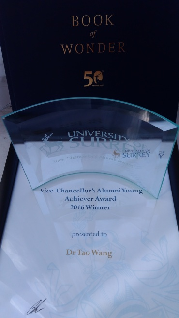 Tao Wang's Young Achiever Award